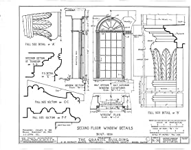 Historic Pictoric Structural Drawing HABS RI,4-PROV,33- (Sheet 15 of 20) - Granite Block, 6-18 Market Square, Providence, Providence County, RI 55in x 44in
