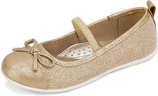 DREAM PAIRS Niñas Mary Jane Bailarina Zapatos de Vestir Planos con Elástica