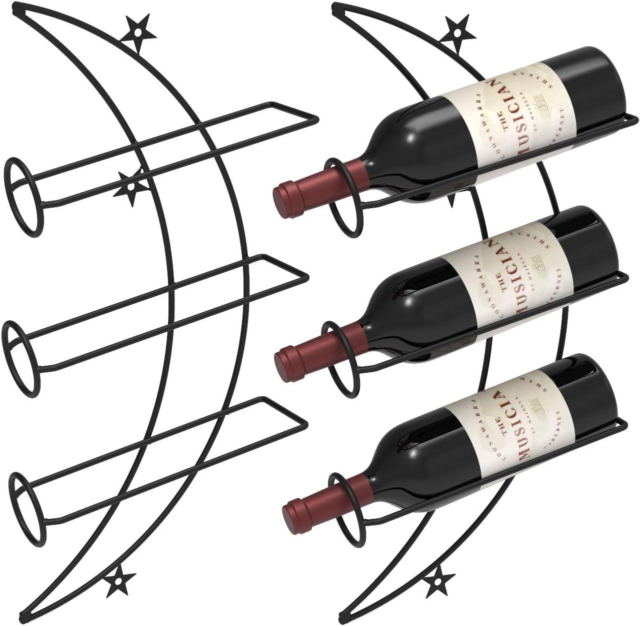 Nijoam Wall Mounted Wine Rack Bottle Discount is also underway Holder Metal 1 year warranty Decorat