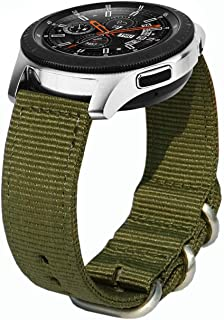 Gear S3 Band, 22mm Quick Release Woven Nylon NATO Band Soft Replacement Strap Wristband for Gear S3 Classic Frontier, Moto 360 2 46mm, Asus ZenWatch 1 2 Men, Pebble Time SmartWatch by Olytop
