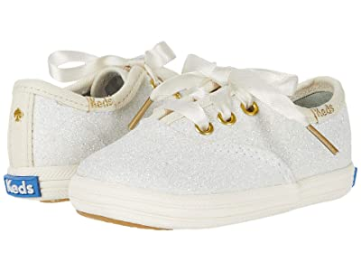 Keds x kate spade new york Kids Champion Glitter Crib (Infant/Toddler) (Cream) Girl