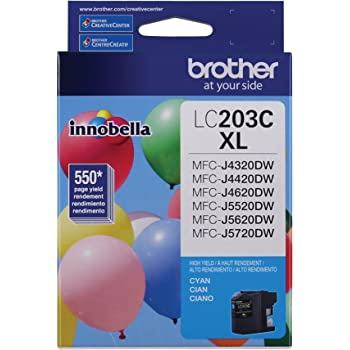 Brother Printer LC203C High Yield Ink Cartridge, Cyan