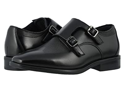 Florsheim Kids Postino Double Monk, Jr. (Toddler/Little Kid/Big Kid) (Black) Boy