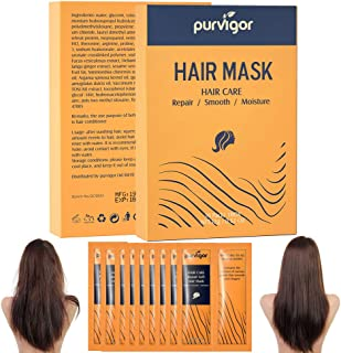 10 Pack Hair Mask, Deep Repair Dry Damaged Hair Root, Moisture Smooth Mask Hair Treatment, Protein Conditio...
