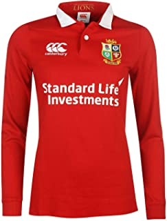 Official Brand Canterbury British and Irish Lions Classic Jersey 2017 Ladies Rugby Red Fan Top
