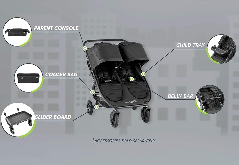 Baby Jogger Belly bar | City Mini 2 Double Stroller, City Mini GT2 Double Stroller, Black