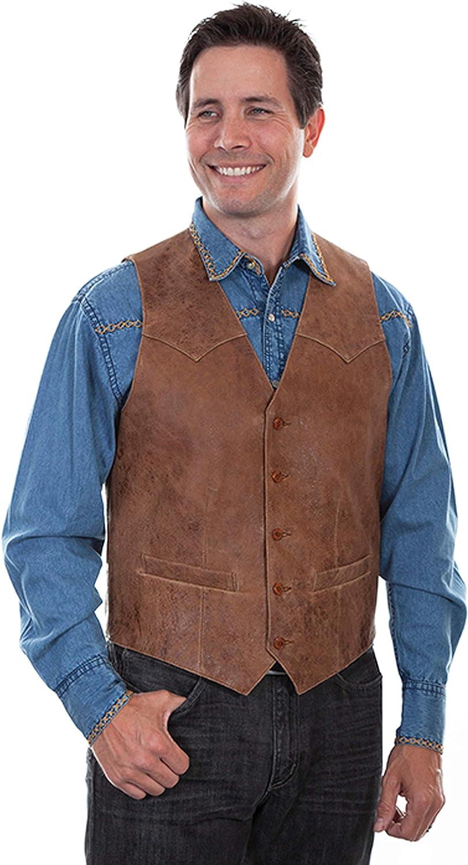 Scully Men's Vintage Leather Vest