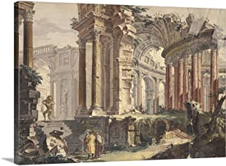 GREATBIGCANVAS Gallery-Wrapped Canvas Entitled Perspective of Classic Ruins, by Francis Chiarotti, 18th C. by Francis Chiarotti 30