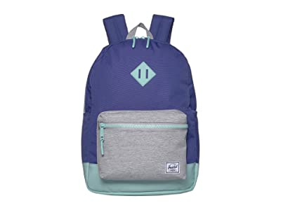 Herschel Supply Co. Kids Heritage Youth XL Backpack (Youth) (Orient Blue/Light Grey Crosshatch/Eggshell Blue) Backpack Bags