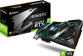Gigabyte AORUS GeForce RTX 2080 Ti 11G Graphics Card, 3X Stacked Windforce Fans, 11GB 352-bit GDDR6, GV-N208TAORUS-11GC Video Card