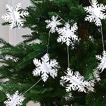 BQZYX+ 3D Snow Pendant, 12 Paper Snowflakes Hanging Decoration Christmas Party Background Layout Winter Wonderland Decoration White Snowflake Ceiling Christmas Decorations Christmas Decorations