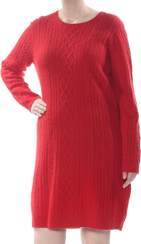 Lauren Ralph Lauren Womens Office Wear Wool Cashmere Blend Sweaterdress