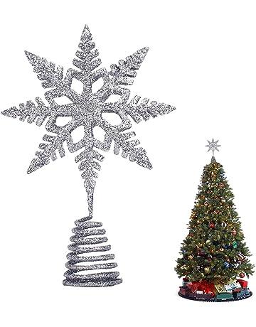 Puntale per Albero di Natale Funzionamento a Spina a Forma di Stella Binwee