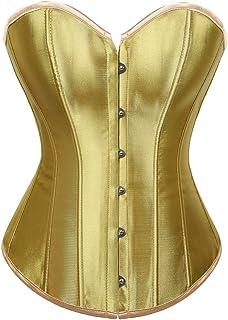 9704f1d6b3 C2U Women Plus Size Corsets Lace Boned Overbust Bustier Top Waist Cincher  Bodyshaper