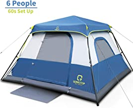 OT QOMOTOP Camping Tent, 4/6/10 People 60 Seconds Set Up,...