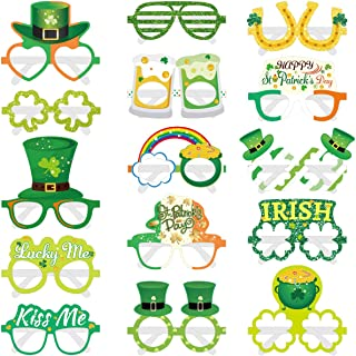 Great Party Decorations /& Supplies Beards St Patricks Day Face Stickers Necklaces and Shamrock Bracelets Glasses Patricks Day Party Favors St Patricks Day Accessories Dealkits 104Pcs Special St