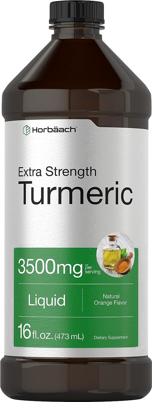 Liquid Turmeric 3500mg 16 floz Over item handling Mail order ☆ Supplement Strength Extra Tur