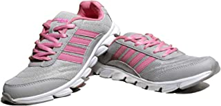 Columbus Sport Multipurpose Shoes for Women Touchwood Mount Women Sports Shoes for Running/Walking (Ultra Lightweight Sole) Color (Gray & Purple- Gray & Pink)
