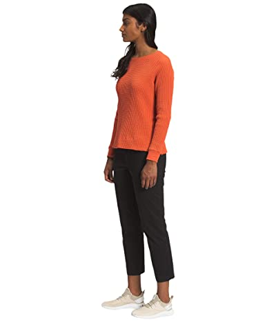 The North Face Long Sleeve Chabot Crew (Burnt Ochre) Women