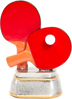 Juvale Ping Pong Trophy - Table Tennis Award Trophy for Sports Tournaments, Competitions, Parties, 5.5 x 4.25 x 3.75 Inches