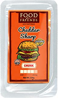 Food for Friends Cheddar Sharp Chunk, 226g - Chilled