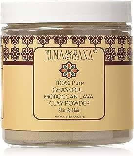 ELMA&SANA® Moroccan (Rhassoul)Ghassoul Lava Clay- 8oz(225gr)