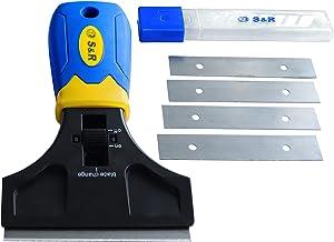 S&R Schraper 147 mm met 5 messen SK5 lijmverwijderaar vignetschraper glaskrabber kookvelschraper | krassen verfverwijderaar