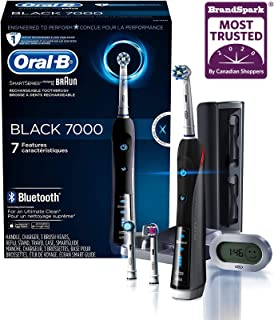 Electric Toothbrush, Oral-B Pro 7000 SmartSeries Black Electronic Power Rechargeable Toothbrush with Bluetooth Connectivit...