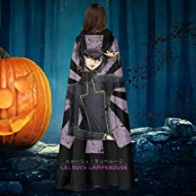 APOJDSN Lelouch Lamperouge Retro Japanese Code Geass Unisex Christmas Halloween Witch Knight Hooded Robe Vampires Cape Cloak Cosplay Costume Black