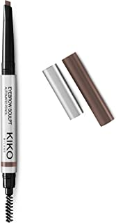 KIKO MILANO - Eyebrow Sculpt Automatic Brown Eyebrow Pencil for Sculpted Eyebrows | 05 Deep Brunettes | Av. in 4 Colors | Hypoallergenic Brow Liner | Cruelty Free | Made in Italy