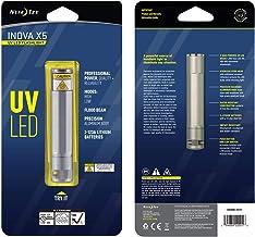 مصباح ليد بالأشعة فوق البنفسجية INOVA X5 من نايت إيز، ضوء قوي بالأشعة فوق البنفسجية للاستخدام الاحترافي + الهواية، جسم متي...