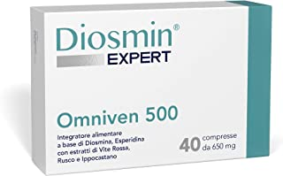 Dulàc - Diosmin Expert - Omniven 500 - Hemorrhoid and Microcirculation - Diosmin (450mg), Hesperidin (50mg), Red Vine, Butcher's Broom, Horse Chestnut