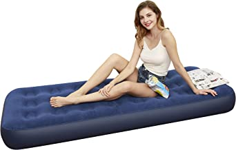 Tuomico Air Mattress Twin & Queen Size Height 9 Inches, Inflatable Bed Portable Blow Up Mattress for Camping Hiking, 3-Year Warranty