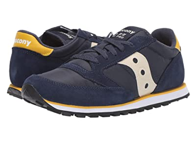 Saucony Originals Jazz Low Pro (Navy/Yellow) Men