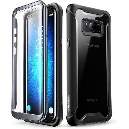 i-BLASON Galaxy S8 ケース 液晶画面フィルム付き 全面保護 クリアケース [ SC-02J SCV36 ] 対応 [Ares Series] (Galaxy S8, 黒/黒)