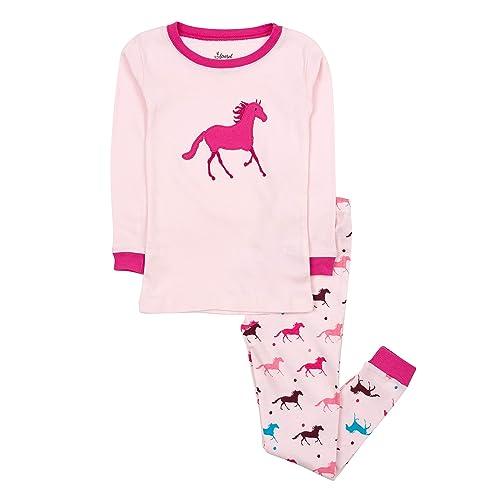 2-10 Y Leveret Fox Girls Matching Doll /& Kid 2 Piece Pajama 100/% Cotton
