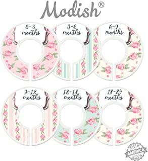 Sponsored Ad - Modish Labels Baby Nursery Closet Dividers, Closet Organizers, Nursery Decor, Baby Girl, Flowers, Roses, Pi...