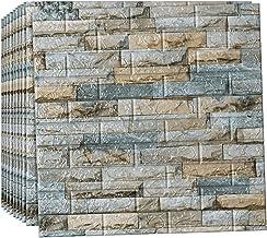 Muursticker 3D Wandpanelen, Bakstenen Muurstickers Zelfklevend Behang Schuimpaneel, Decor Baksteen Behang, voor Kantoor Wo...