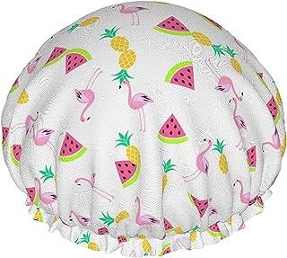 Arbuz flaming i ananasy wodoodporna czepek prysznicowy z elastycznym brzegiem odwracalna konstrukcja do prysznica czepek d...