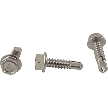"""18.8 Stainless Steel, #14 x 1/"""" Hex Washer Head Sheet Metal Screws Self Tapping"""