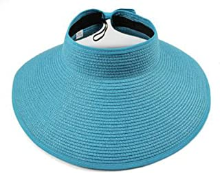 Women Spring Visors Cap Foldable Wide Large Brim Sun Hat Beach Hats for Women Straw Hat