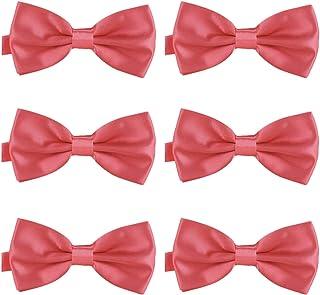 Pajarita roja Pajarita con notas musicales preanudadas en 6 colores regalo de cumplea/ños ocasiones formales y divertidas PUNK
