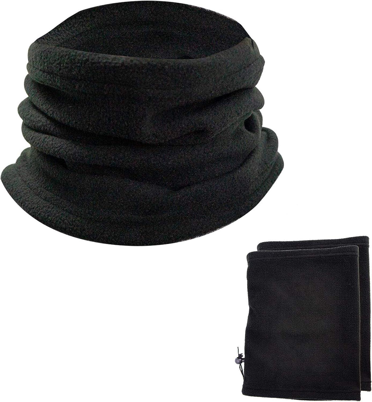 Carrotez Soft Neck Warmer 2PCS - Winter Fleece Neck Gaiter, Ski Tube Scarf & Snowboard Half Face Mask, Cover & Shield for Cold Weather Running, Skiing & Snowboarding for Men & Women, Black