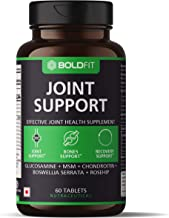 Boldfit Joint Support Supplement with Glucosamine MSM Chondroitin Boswellia Serrata and Rosehip Extract - Promotes Bones Support and Recovery Support - 60 Tablets