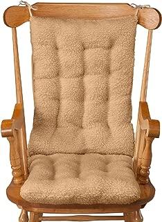 WalterDrake Sherpa Rocking Chair Cushion Set, Camel