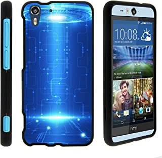 TurtleArmor | Compatible with HTC Desire Eye Case [Slim Duo] Ultra Slim Matte Hard 2 Piece Case Cover Compact on Black - Blue Technology