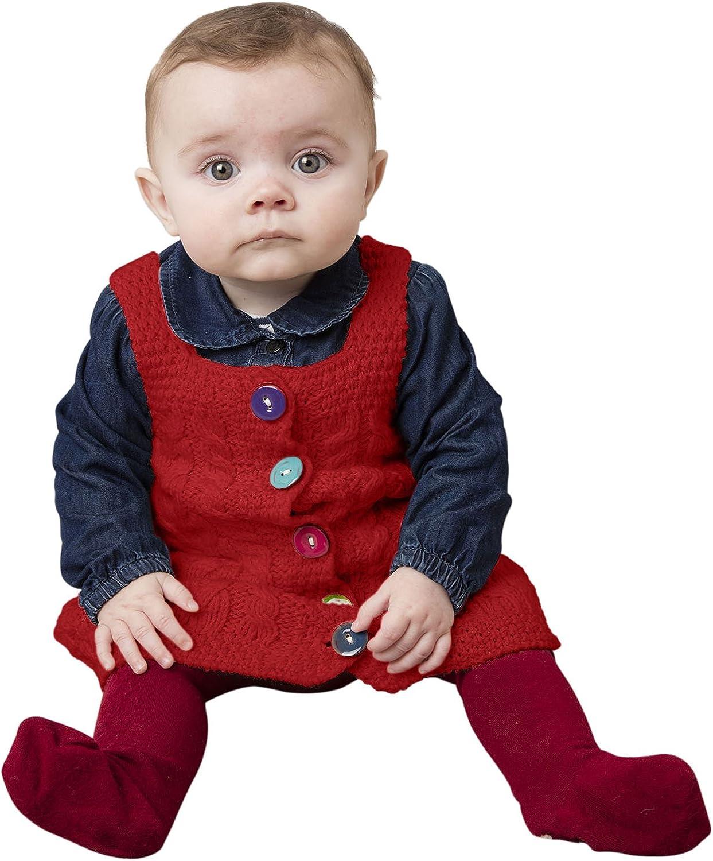 Baby Wool Irish Pinafore Dress Sweater
