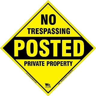dickem No Trespassing Posted Private Property gelb Aluminium Schild 30,5x 30,5cm X .040'(gelb)