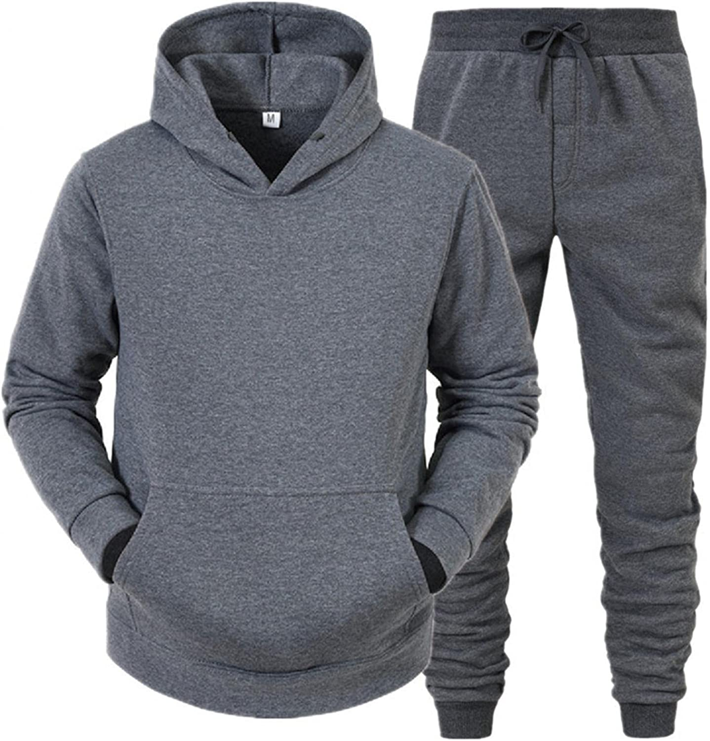 FUNEY Men's Casual Tracksuit Casual Fashion Long Sleeve Running Jogging Athletic Sports Pullover and Jogger Pants Set