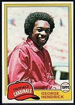 Baseball MLB 1981 Topps #230 George Hendrick Cardinals
